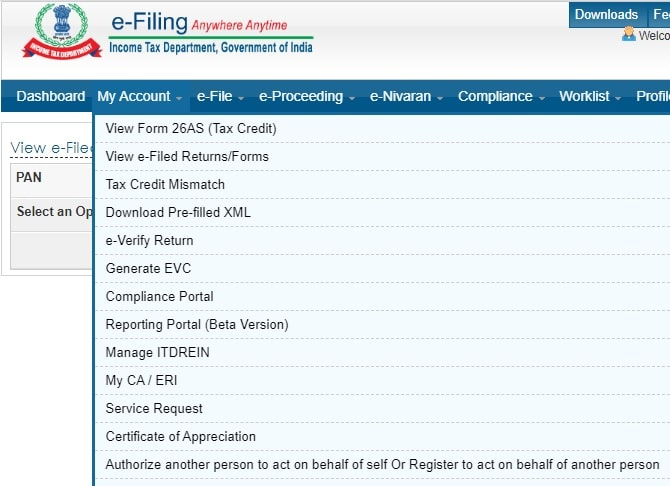 How to check income tax refund tracking online-Screen-2