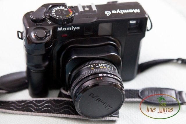 Mamiya 6 with 75mm f/3.5 lens, bellows extended