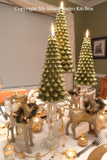 Evergreens And Reindeer Christmas Tablescape My Island