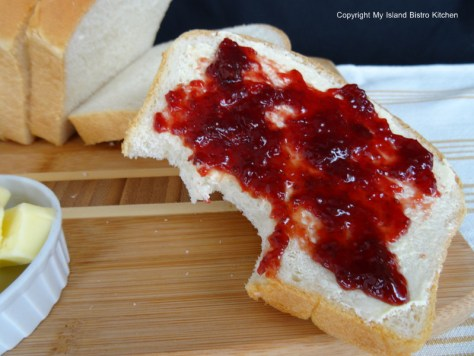 Homemade Bread with Strawberry Jam