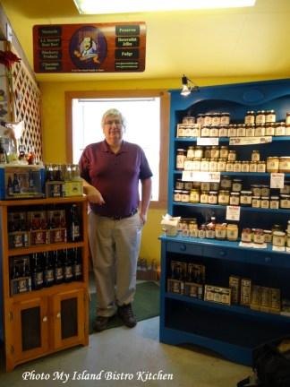Thom MacMillan at the J.J. Stewart booth at the Charlottetown Farmers Market