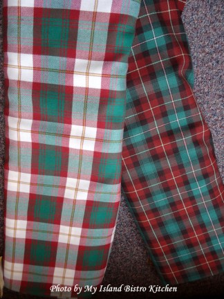 Traditional (Right) and Dress (Left) Prince Edward Island Tartans