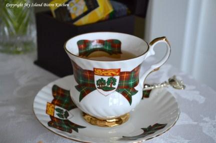 Prince Edward Island Tartan Teacup and Saucer