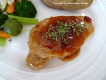 Cranberry and Ginger Sauced Pork Chops