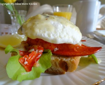 The Bistro's Lobster Eggs Benedict