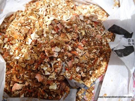 Crushed Crab Shells