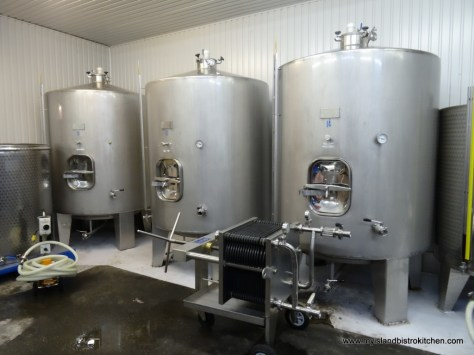 Tanks Containing Wine in Progress