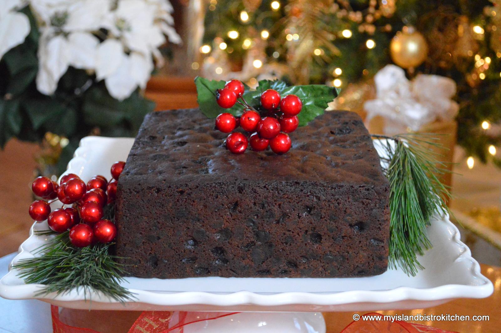 Christmas Fruit Cake Recipe With Brandy.Dark Fruitcake