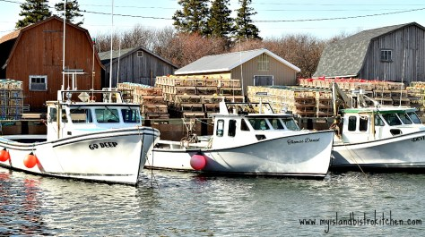 Lobster Fishing Boats at Malpeque Harbour, PEI, Canada