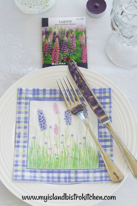 Lupine Placesetting