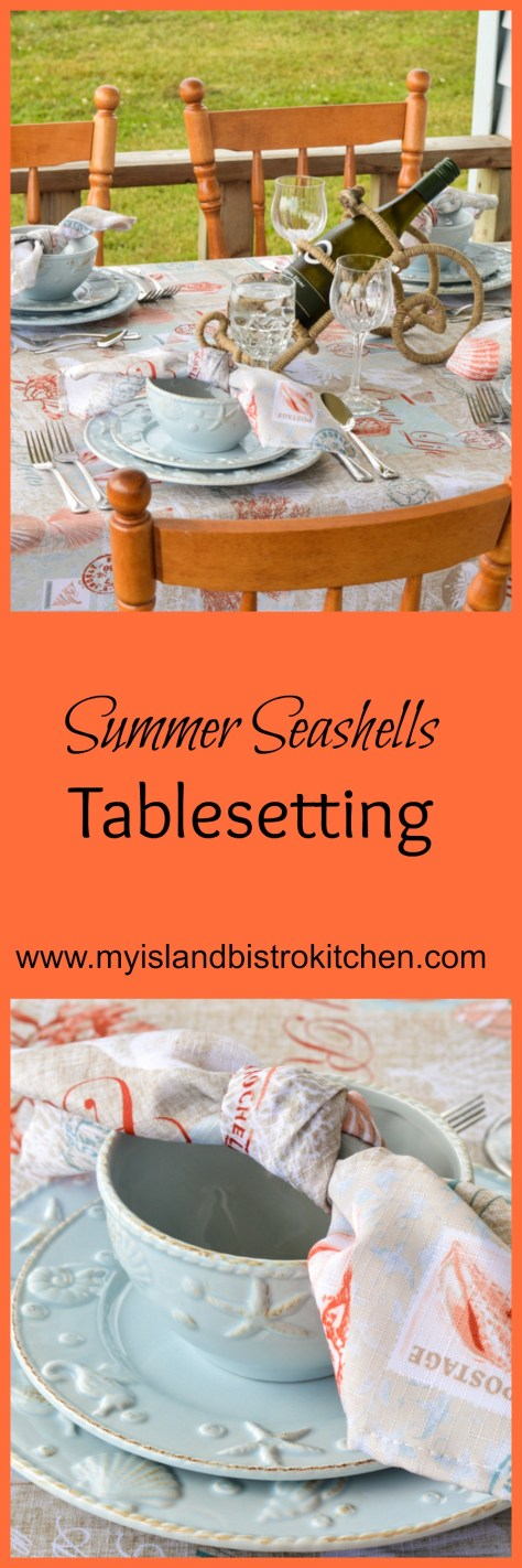 This Summer Seashells Tablesetting draws its inspiration from the seashell dinnerware.