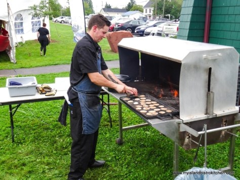 """Making Tacos at """"Taste of Georgetown"""" event"""