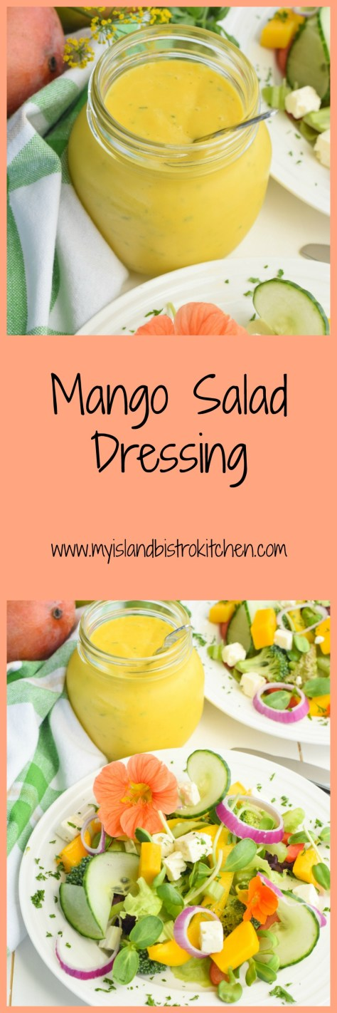 This tasty easy-to-make Mango Salad Dressing is a wonderful balance of citrus and sweetness and complements many different kinds of salads well
