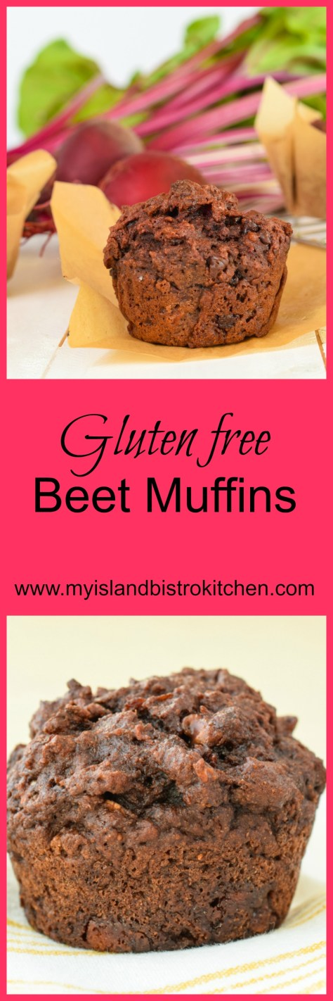 These delicious Deli-style Gluten-free Beet Muffins are made with cooked beets and chocolate to create moist,tasty muffins.