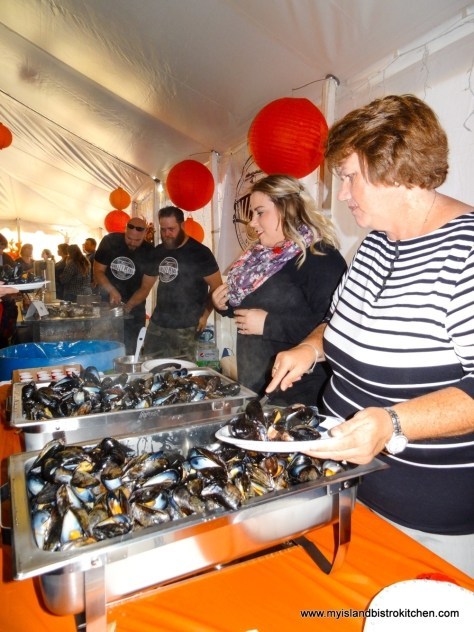 "Serving up Island Blue Mussels at the ""Taste of Tyne Valley"" PEI Fall Flavours 2017 Event"