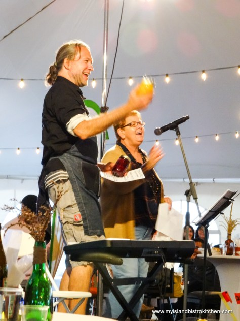 """Chef Michael Smith with the Mayor of North Rustico, PEI - Anne Kirk (""""Taste of North Rustico"""" 2017)"""