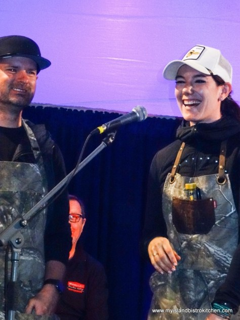 """Guest Chefs John Jackson and Connie DeSousa from Charcut Roast House in Calgary, AB, at """"Taste of North Rustico"""" PEI 2017"""