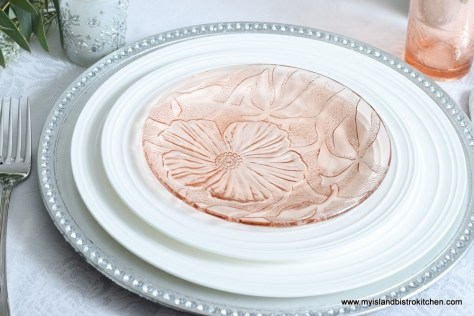 Pink Glass Plates