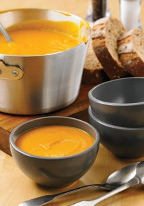 Roasted Carrot and Sweet Potato Soup with Apple and Sage (Image Credit: Matt Johannsson, Reflector, Inc)