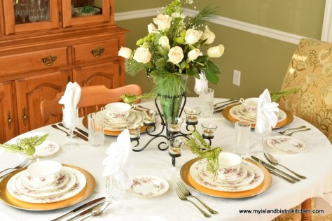 The Christmas Rose Tablesetting