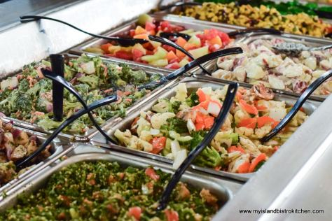 Salad bar at Fisherman's Wharf Lobster Suppers
