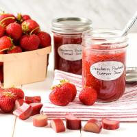Jars of summer fruit jam