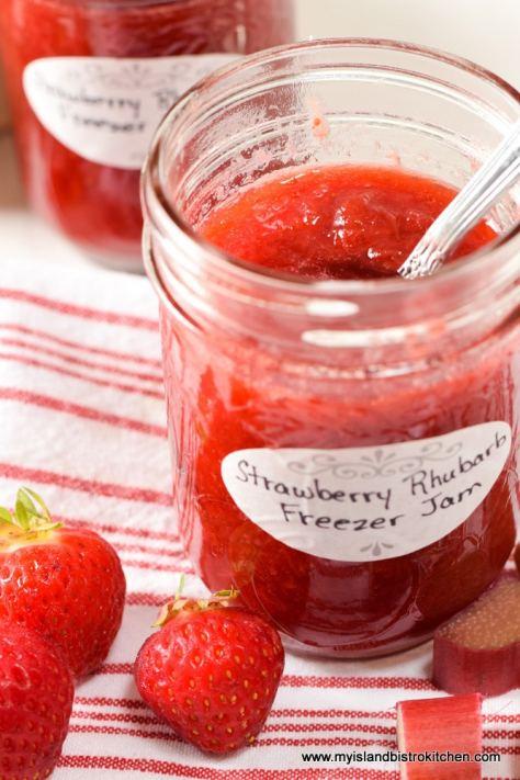 Open jar of Freezer Jam