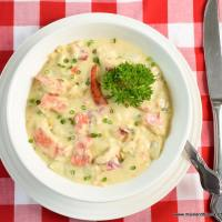 Lobster, Potato, and Corn Chowder