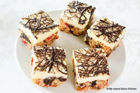 Coconut Date and Cherry Squares