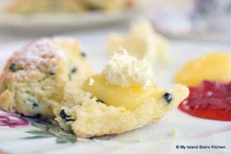 Currant Scone with Lemon Curd and English Double Cream