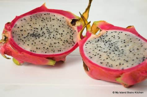 Interior of Dragon Fruit