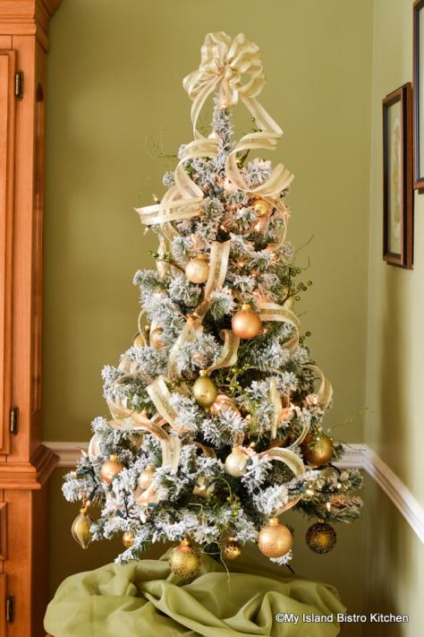 Flocked Tabletop Tree