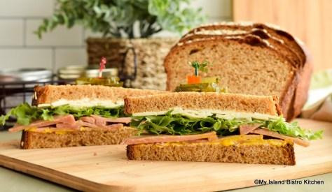 Ham and Cheese Sandwich on Porridge Bread