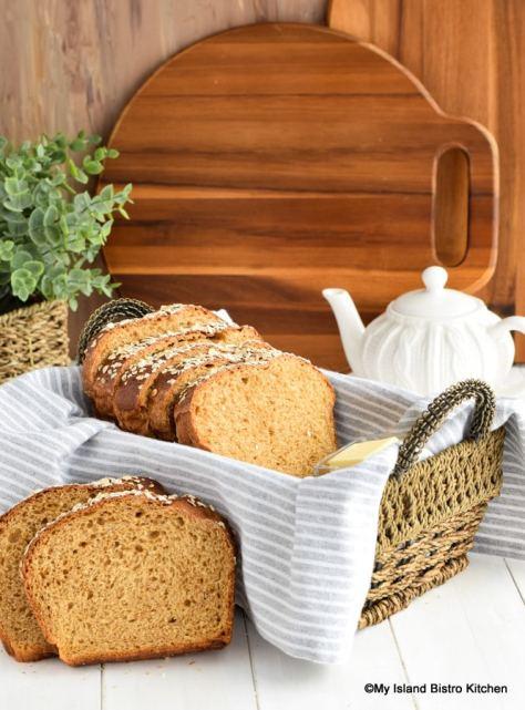 Slices of Porridge Bread in Basket