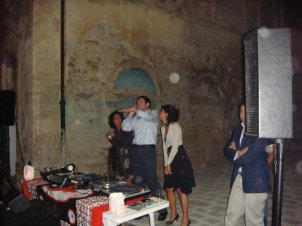 Private performance at a Tuscany villa in Italy