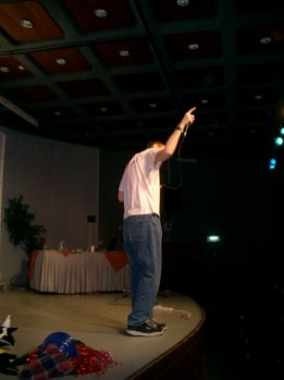 Performing at FZY Veida in Jerusalem, 2004