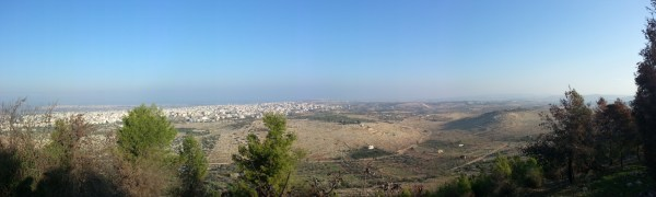 View over the Sharon Coastal Plain from Tzur Natan