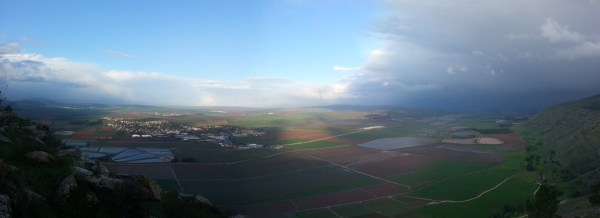 View from Mt Shaul on the Gilboa