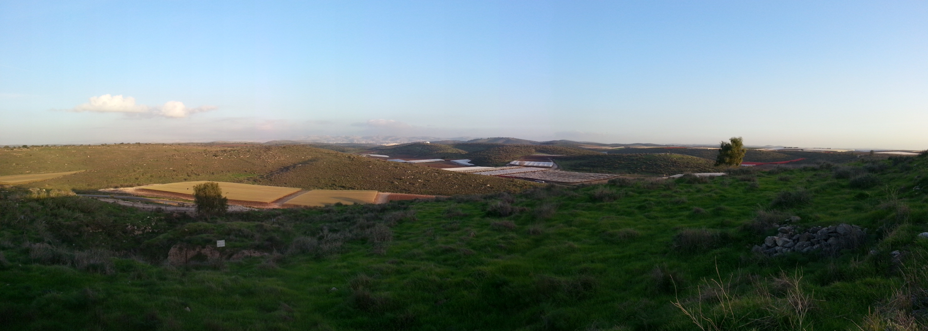 View over the Judean Lowlands (Shfela) from Tel Lachish