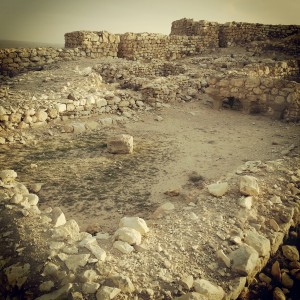 Remains of a late Canaanite period 'Arad House' at Tel Arad