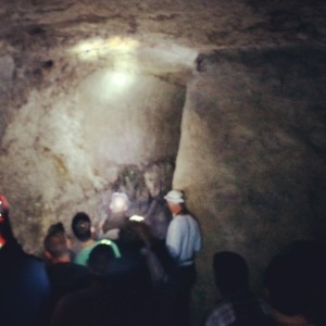 Inside the ancient cistern at Tel Beit Shemesh