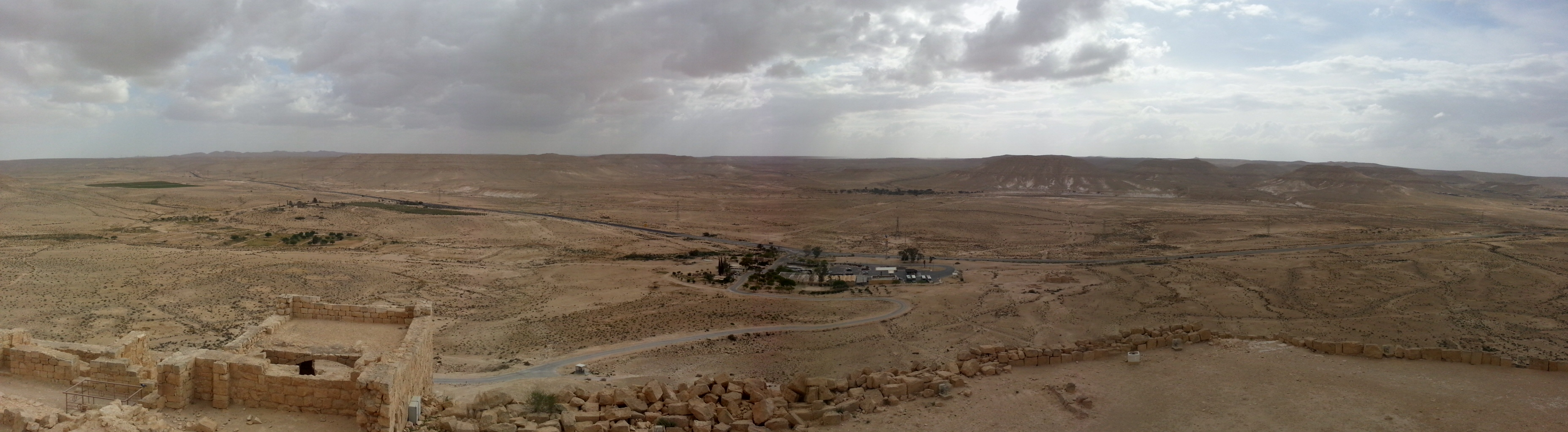 View from Avdat - note the greenery to the left coming from revival of ancient irrigation techniques