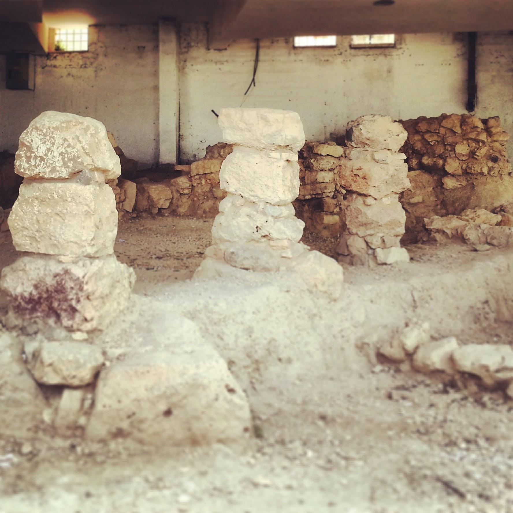 Ancient ruins at Tel Rumeida
