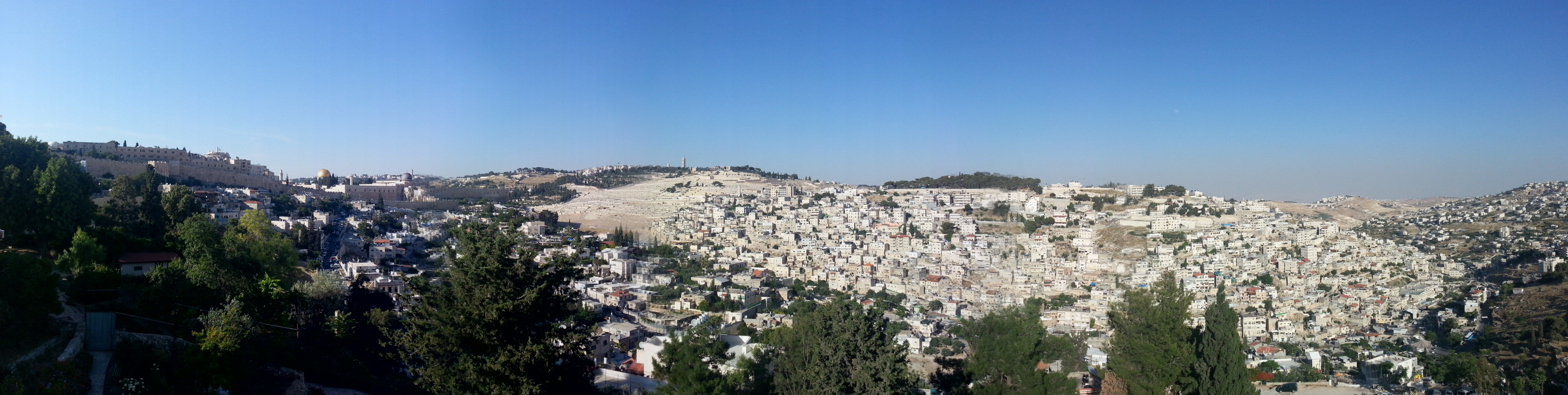 View over Jerusalem from Mount Zion