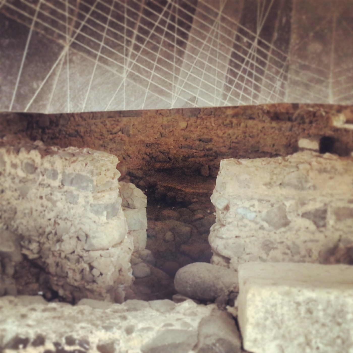 View into St Peter's House, Capernaum