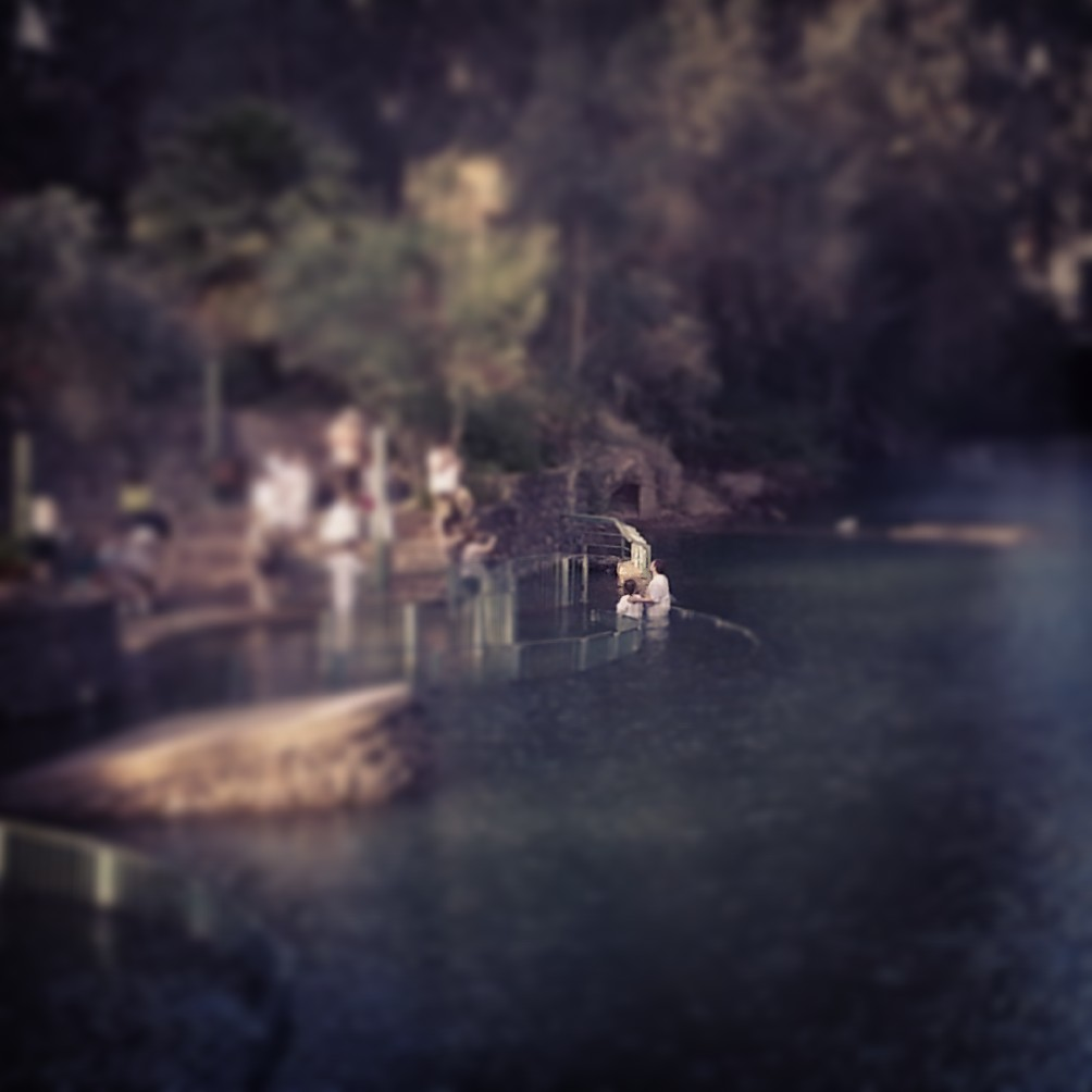 Baptism ceremony in the Jordan River at Yardenit