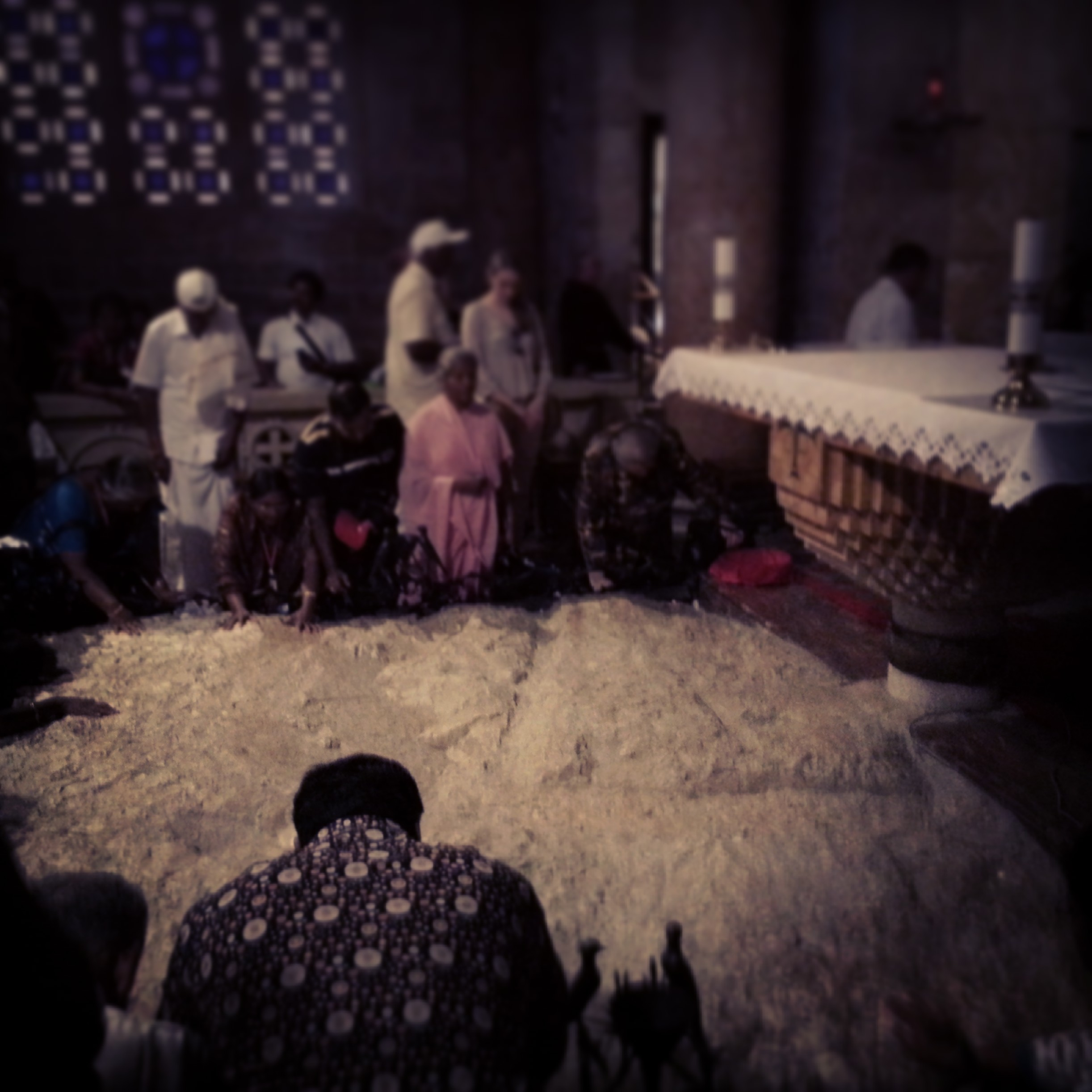 Inside the Church of Gethsemane in Jerusalem
