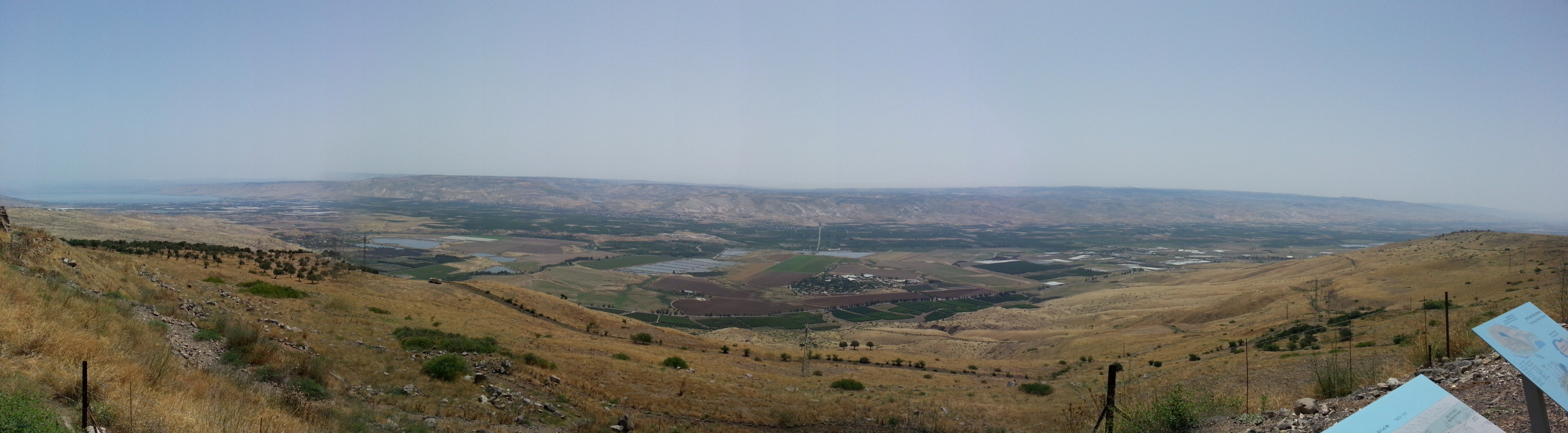 View over the Jordan Valley from Belvoir Crusader Fortress