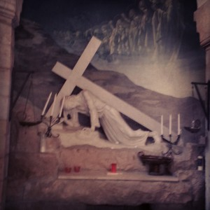 Chapel marking one of Jesus' three falls on the Via Dolorosa