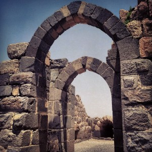 Crusader pointed arches at Belvoir Fortress